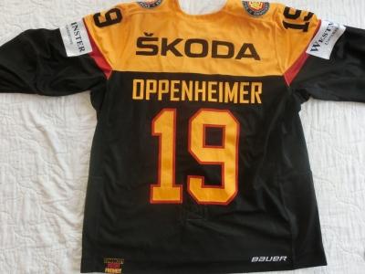 DEB Gameworn Eishockeytrikot 2016/2017s #19 Thomas Oppenheimer