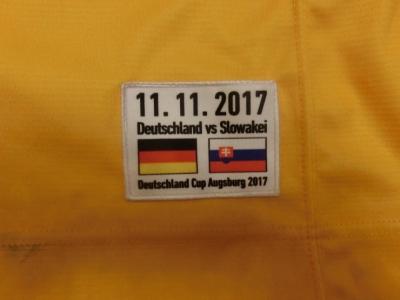DCup2017 Gameworn Eishockey Trikot #41 Jonas Müller