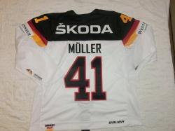 Gameworn Eishockey Trikot #41 Jonas Müller