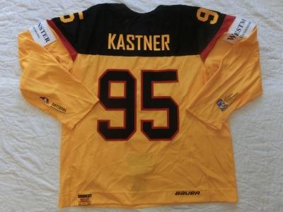 DCup2016 Gameworn Eishockey Trikot #95 Maximilian Kastner