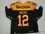 DEB Gameworn Eishockeytrikot 2016/2017s #12 Brooks Macek