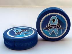 Charity Eishockey Puck blau 2018